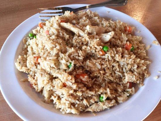 Johnson City, TN: Fried rice, chicken...a bit too dry