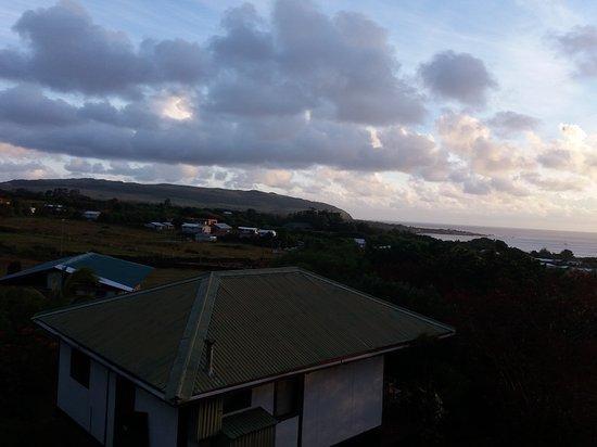 Cabanas Mana Ora : Vista hacia Hanga Roa