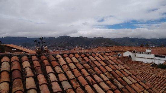 Los Apus Hotel & Mirador: Vista da cidade, foto tirada no terraço do hotel