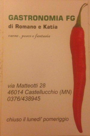 Castellucchio, Italia: Gastronomia FG di Galanti Romano e Katia