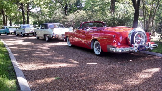Smithfield, VA: Classic 1950s cars on display during the Annual Restoration Day celebration in May.