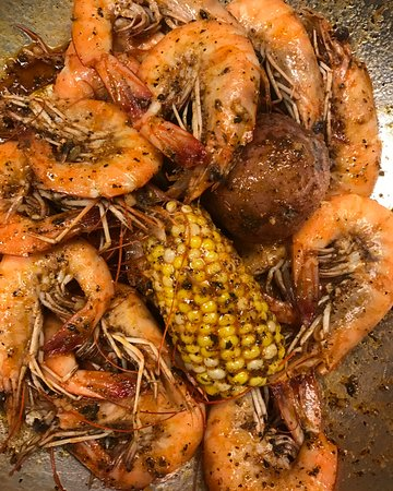 Hapeville, Georgien: Lemon Pepper & Garlic Butter Shrimp Boil