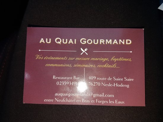 Seine-Maritime, Frankrike: Au Quai Gourmand
