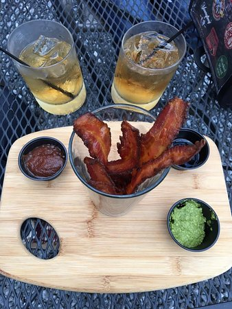 Dillsboro, NC: Glass of Bacon appetizer!