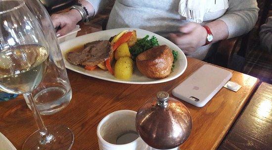 Elstree, UK: Roast lamb