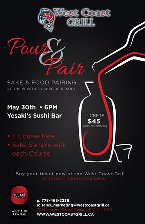 Nelson, Canada: Pour & Pair - Saké and food pairing night - May 30th at 6pm