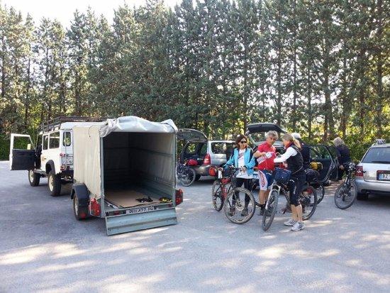 Buje, Croatia: our bike shuttle