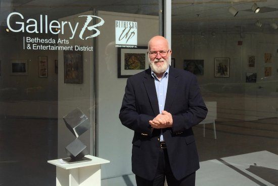 The author at the Maryland Federation of Art Show at Gallery B in Bethesda.