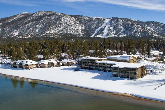 Tahoe Lakeshore Lodge and Spa: Winter Ariel View