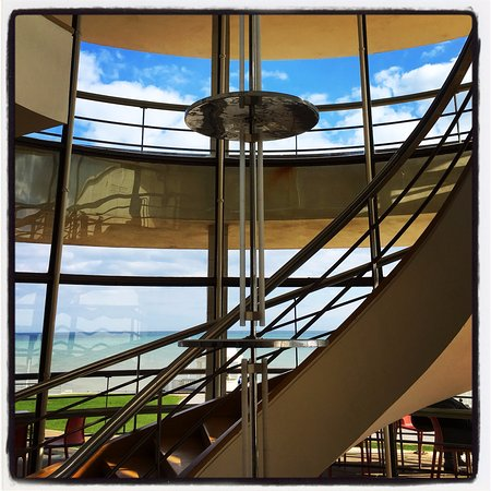Bexhill-on-Sea, UK: View of the staircase design indoors