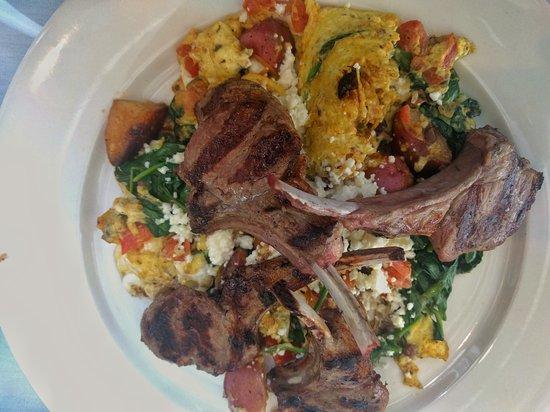 Paul's Homewood Cafe : Greek Eggs and Lamb Chops
