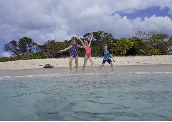 West End, Tortola: Some joyous beach time ...