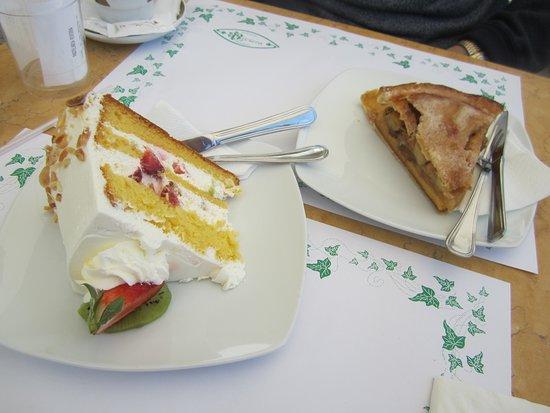 Happy Birthday Fruit Cream Cake Deep Apple Pie Picture Of