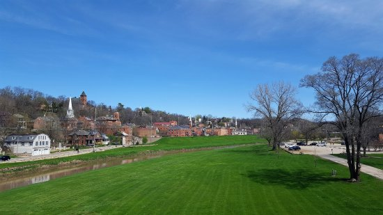 Galena, IL: view of the park from rt 20 bridge