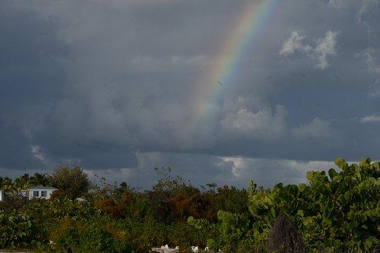 North Beach Island: Rainbow over North Island Beach