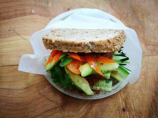 Whangamata, Nueva Zelanda: Inspiring organic sandwiches