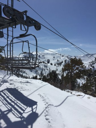 Olympic Valley, CA: Top of Scott Chair @ Alpine looking at Alpine Bowl.
