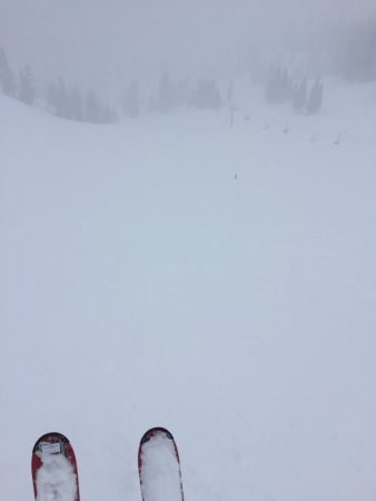 Olympic Valley, CA: In the Funnel looking at Shirley Lake chair @ Squaw.