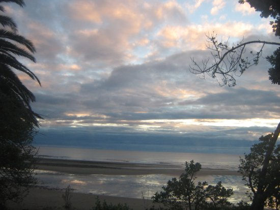 Takaka, New Zealand: view from our caravan site