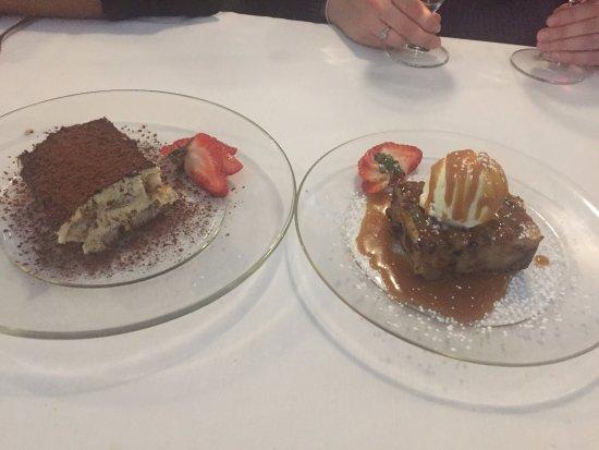 tiramisu and bread pudding