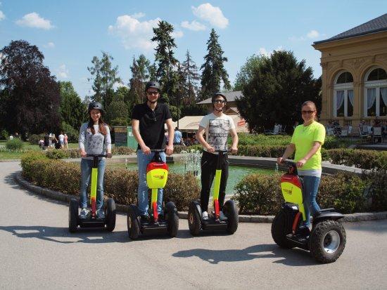 Olomouc, Czech Republic: SEGWAY tour leading through FLORA park.