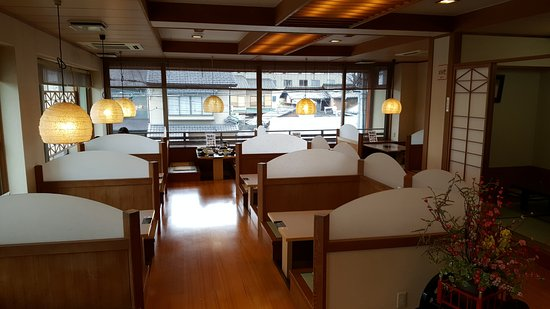 Shoei: Booths to sit at in Ryokan restaurant