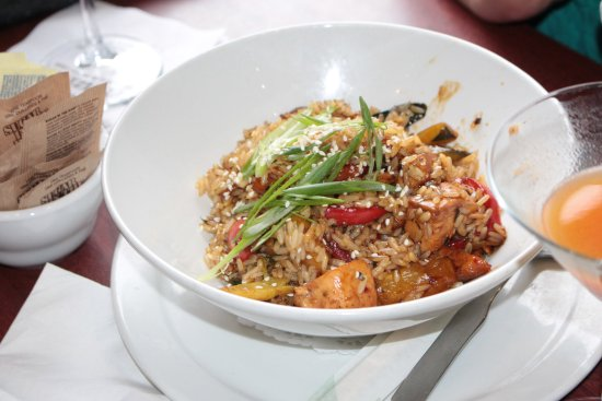 Ajax, Canada: Teriyaki chicken fried rice