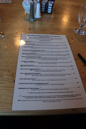 Bryce Canyon Lodge Restaurant Menu Picture Of The Lodge At Bryce Canyon Restaurant Bryce Canyon National Park Tripadvisor