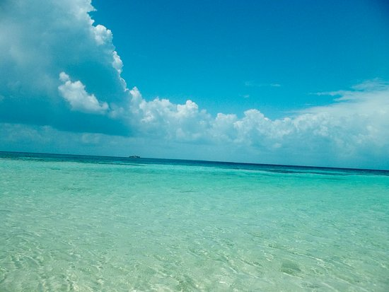 Belize Cruise Excursions - Goff's Caye Beach and Snorkeling Tour : crystal clear water