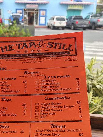 The Tap & Still Redhook: The menu