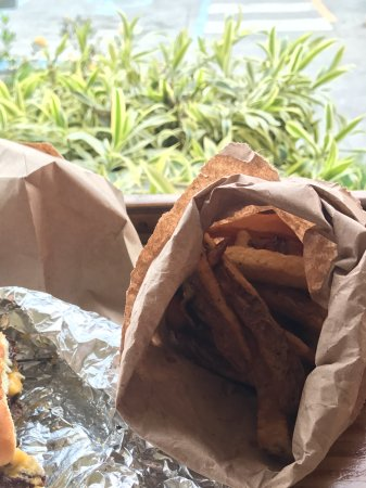 The Tap & Still Redhook: Food comes in a brown bag!