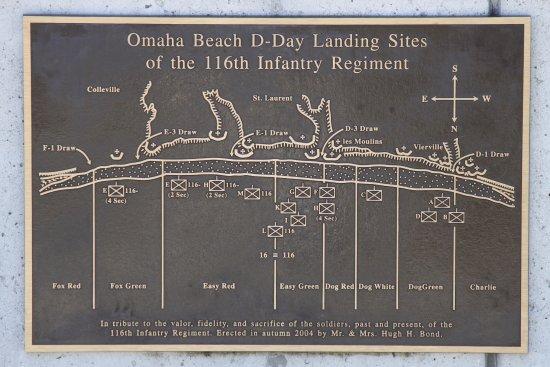 Bedford, VA: Bronze map of the Normandy beaches