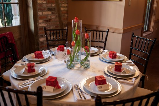 Reception Table Settings - Picture of Antiques Rose Ville, New ...