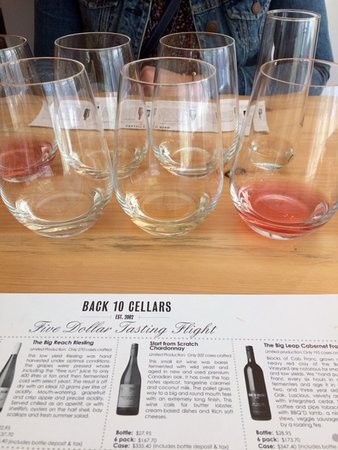 Beamsville, Canadá: Tasting Selection