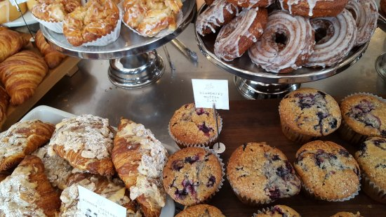 Kittery, ME: Almond croissants, blueberry muffins, monkey bread and cruellers