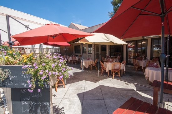 San Anselmo, Калифорния: the patio