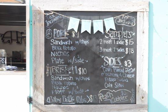 Cannonville, Utah: i.d.k. barbecue - menu