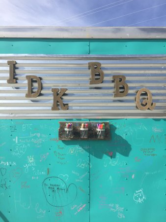 Cannonville, UT: i.d.k. barbecue - food truck sign