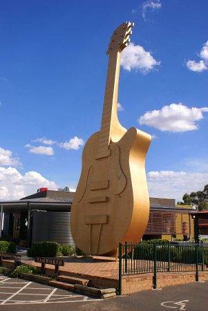 Sydney, Canada: The Big Fiddle's distant cousin, the Golden Guitar in Tamworth New South Wales, Australia