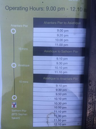 Schedule of Shuttle boat to/from Asiatique - Picture of
