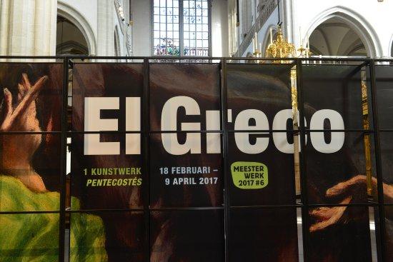 Nueva Iglesia (Nieuwe Kerk): El Greco Exhibition inside the church