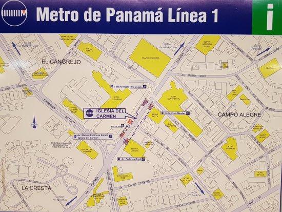 Mapa de línea 1 - Picture of Panama Metro, Panama City ... Map De Panama on carti panama, large map of panama, atlas de panama, flag de panama, david panama, continental divide panama, rep de panama, mapa de panama, political map of panama, country of panama, map of panama central america, map of panama canal waterway, poblacion de panama, portobelo panama,