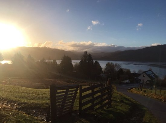 Lochcarron, UK: View from entrance to B&B