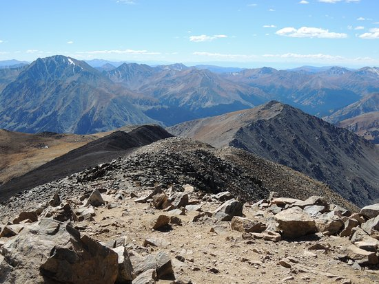 Leadville, CO: Scenery from Mt Elbert