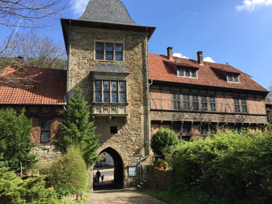 Rinteln, גרמניה: Schöne Burg, schöne Aussicht, auch aus dem begehbaren Turm (50 Cent)