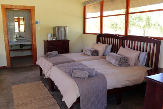 Beitbridge, Zimbabwe: our newly built section of the lodge. these rooms do not have air con, but have fans!