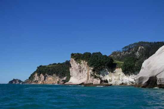 Whitianga, Nya Zeeland: fantastic coastline, and it really is this blue..