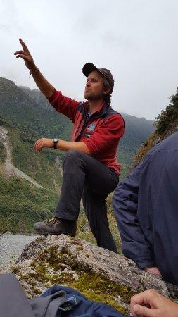 Ледник Фокса, Новая Зеландия: Simon our guide from our high vantage point