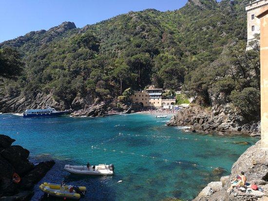 Parco Naturale Regionale di Portofino: Vista su spiaggia di San Fruttuoso