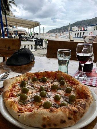 Comisa, Croazia: anchovies, chees, olive